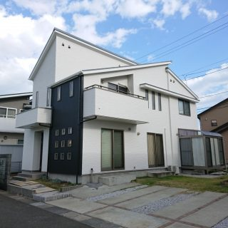 名取市で断熱塗装した住宅