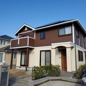 名取市で外壁塗装した家