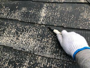 スレート屋根の縁切り