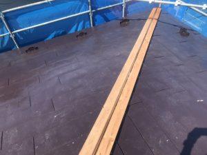 屋根の棟の修理