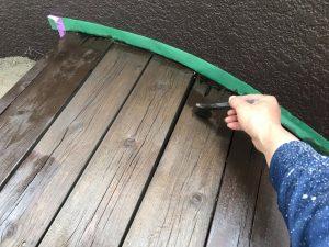 木製ベンチの塗装