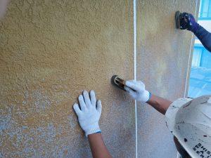 外壁の塗膜の剥離