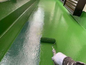 バルコニー床塗装