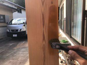 木柱防腐塗装