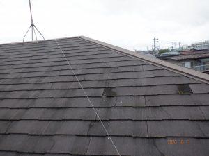 ノンアスベスト屋根のひび割れ