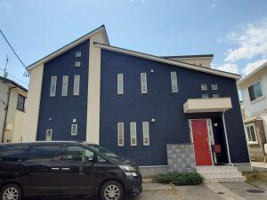 外壁塗装後の家
