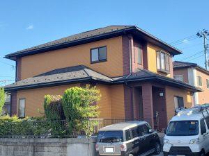 塗装前の家